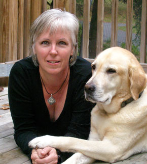 Denise Mazzola and her dog Thor